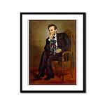 Lincoln-Black Pug Framed Panel Print