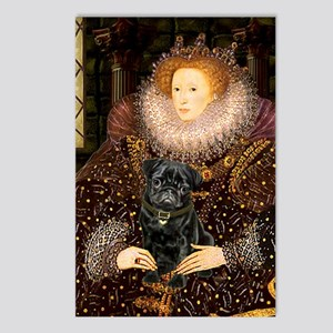 The Queen's Black Pug Postcards (Package of 8)