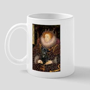 The Queen's Black Pug Mug