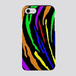 Rainbow Tiger Stripes iPhone 7 Tough Case