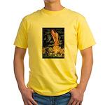 Fairies & Black Pug Yellow T-Shirt