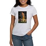Fairies & Black Pug Women's T-Shirt