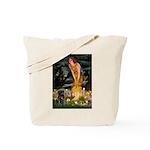 Fairies & Black Pug Tote Bag