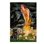 Fairies & Black Pug Postcards (Package of 8)