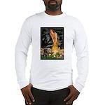 Fairies & Black Pug Long Sleeve T-Shirt