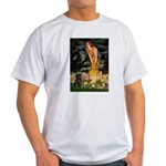 Fairies & Black Pug Light T-Shirt