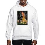 Fairies & Black Pug Hooded Sweatshirt