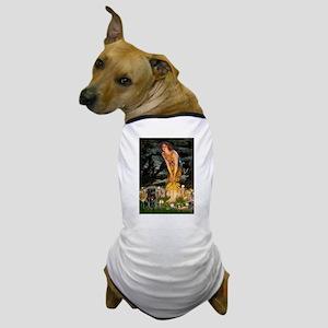 Fairies & Black Pug Dog T-Shirt