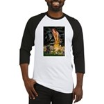 Fairies & Black Pug Baseball Jersey