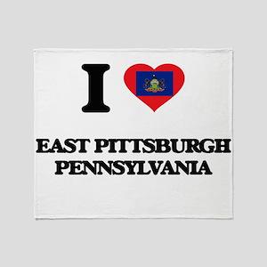 I love East Pittsburgh Pennsylvania Throw Blanket
