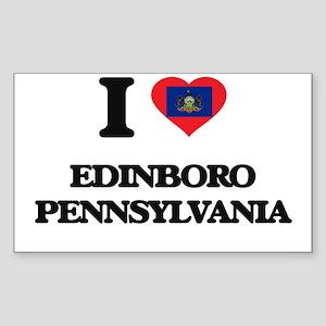I love Edinboro Pennsylvania Sticker