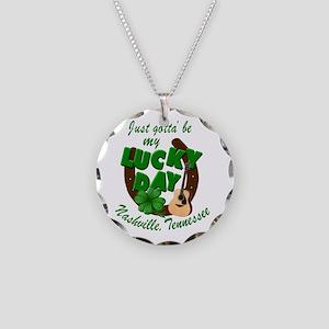 Nashville Lucky Day Necklace Circle Charm