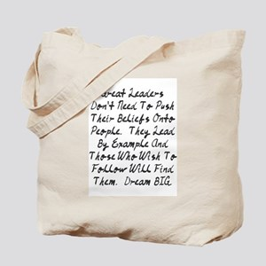 Lead By Example Tote Bag
