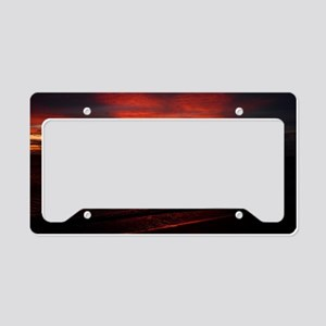 The Red Sunset License Plate Holder