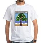 Glenwood-Brooklyn White T-Shirt With Front Design
