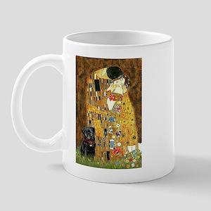 The Kiss / Black Pug Mug