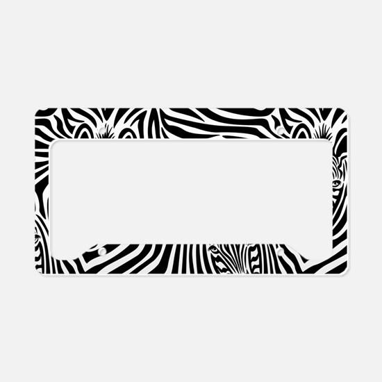 Zebras License Plate Holder