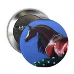 bay arabian horse Button