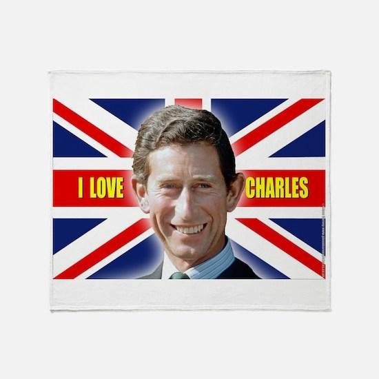 Cute English royalty Throw Blanket