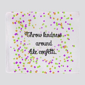 Confetti kindness Throw Blanket