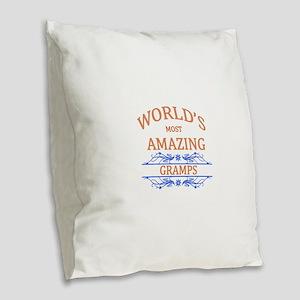 Gramps Burlap Throw Pillow