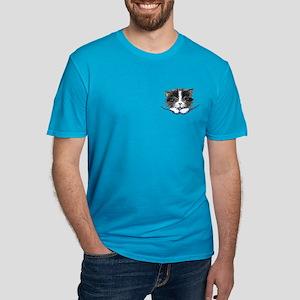 Pocket Kitten Men's Fitted T-Shirt (dark)