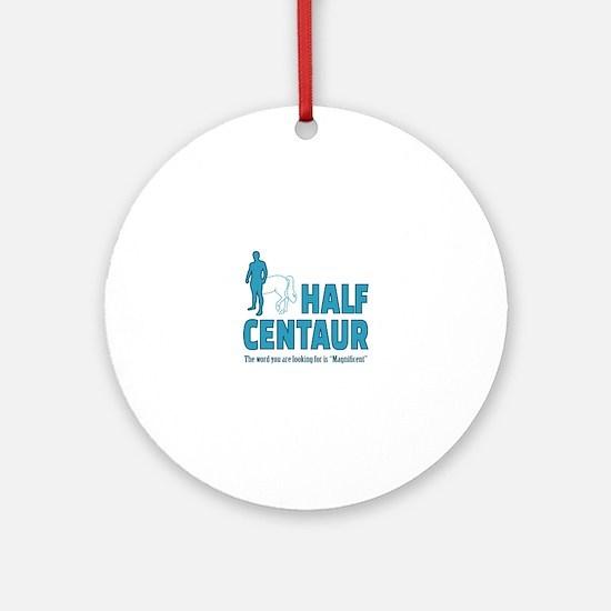 Half Centaur Round Ornament