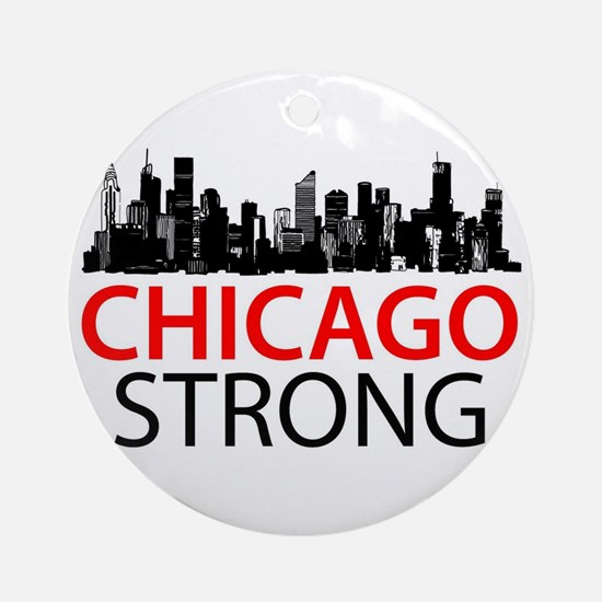 Chicago Strong - Skyline Ornament (Round)