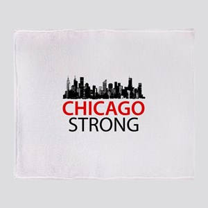 Chicago Strong - Skyline Throw Blanket