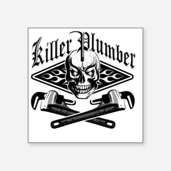 """Plumber Skull 3.1 Square Sticker 3"""" x 3"""""""