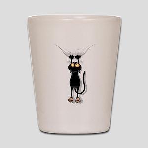 hanging cat 2 Shot Glass