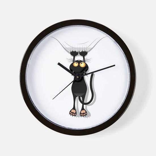 Hanging Cat 2 Wall Clock