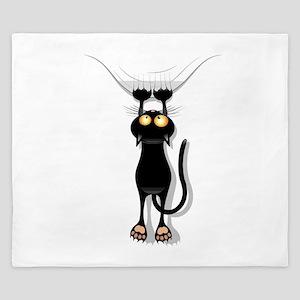 Hanging Cat 2 King Duvet