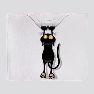 Hanging Cat 2 Throw Blanket