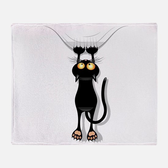 Hanging Cat 2 Throw Blanket