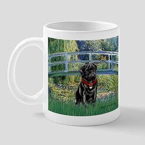 Bridge / Black Pug Mug
