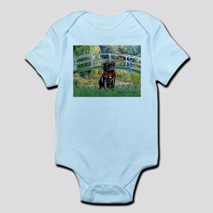 Bridge / Black Pug Infant Bodysuit