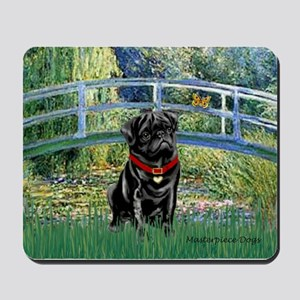 Bridge / Black Pug Mousepad