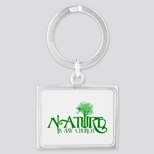 Nature is my Church Landscape Keychain