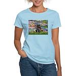 Lilies (#2) & Black Pug Women's Light T-Shirt