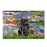 Lilies (#2) & Black Pug Postcards (Package of 8)