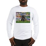Lilies (#2) & Black Pug Long Sleeve T-Shirt