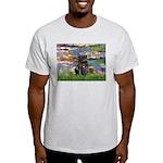 Lilies (#2) & Black Pug Light T-Shirt