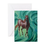 chestnut arabian horse Greeting Card