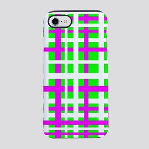 Fuchsia & Green Interlocking Stripes iPhone 7