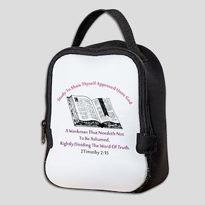 2timothy 2:15 Neoprene Lunch Bag