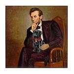 Lincoln-Black Pug Tile Coaster