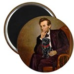 Lincoln-Black Pug Magnet