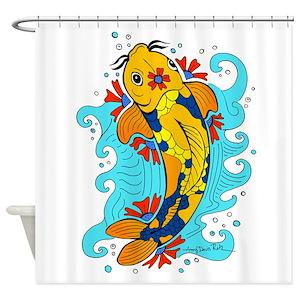 Tattoo Koi Fish Shower Curtains