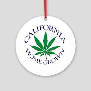 California Home Grown Ornament (Round)